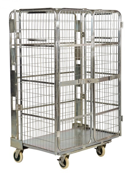Security Wire Cage Cart - Foldable
