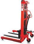 "NOBLELIFT Manual Straddle Stacker - 118"" Lift thumb"