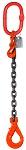 4500 lbs Chain Lifting Sling with Single Self-Locking Hook thumb