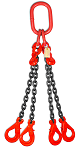 11700 lbs Chain Lifting Sling with Quadruple Self-Locking Hook thumb