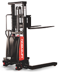 "NOBLELIFT Semi-electric Straddle Stacker - 118"" Lift thumb"