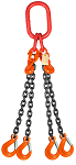 11700 lbs Chain Lifting Sling with Quadruple Slip Hook thumb