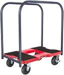 "Snap-Loc Heavy Duty Dolly Panel Cart with 6"" Casters - 1600lb Capacity thumb"