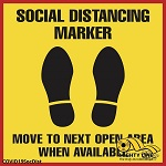 Social Distancing Marker Safety Floor Sign thumb