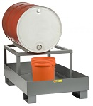 Spill Control Platform with Single Drum Rack thumb