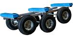 Steel 6 Wheel Piano Dolly 1200 lb Capacity thumb