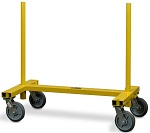 Steel I-Shaped Panel Cart with Two Removable Posts thumb