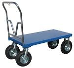 Steel Platform Cart with Large Wheels 1,500 lbs capacity thumb