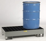 Two Drum Spill Control Forkliftable Platform - 33 Gallons thumb