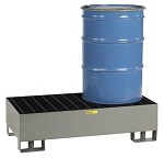 Two Drum Spill Control Forkliftable Platform - 66 Gallons thumb