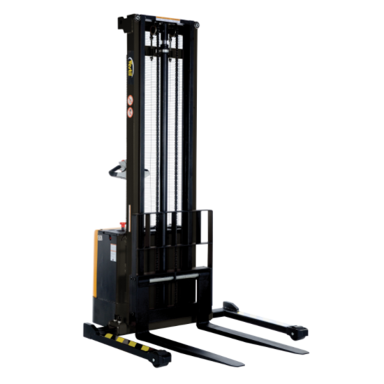Electric Stacker With Powered Lift and Drive - 150 Inches Lift Height