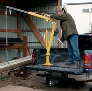 2000lb Vestil Winch Operated Pickup Truck Jib Crane