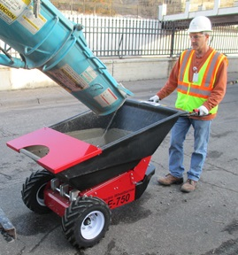 Contractor's Electric Wheelbarrow For Cement, Demolition and Landscaping