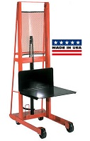 Foot Operated Hydraulic Platform Stacker - Straight Top