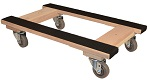Stackable Wooden Dolly with Rubber Top Surface