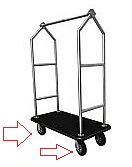 Replacement Wheels For Monarch Hotel Bellman Carts thumb