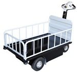 Power Drive Cart with Side Containment Bars