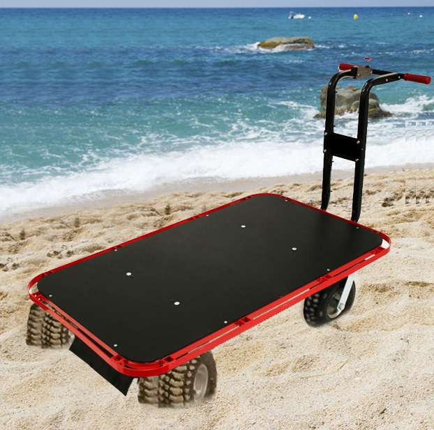 Electric Powered Beach Platform Cart