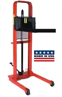 Foot Operated Hydraulic Platform Stacker - Curved Top