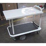 "2 Shelf 40"" x 26"" Motorized Platform Cart thumb"