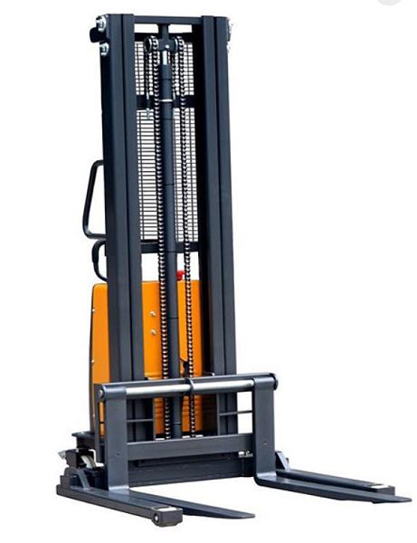 "Ekko Power Lift  Straddle Stacker 119"" Lift 3300lb Capacity thumb"