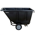 1/2 Cubic Yard Black Tilt Cart thumb