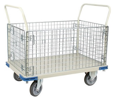 Platform Truck With Wire Cage thumb