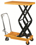 5ft Reach Double Scissor High Lift Table - 1540lb Capacity