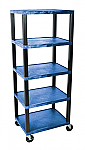 "5 Shelf Plastic Utility Cart 18"" x 24"" 78"" H"