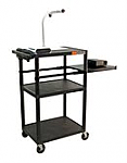 Computer Work Station with Side Pull Out Shelf