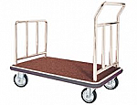 Luxurious Hotel Platform Luggage Cart Chrome Finish