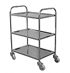 Stainless Steel 3 Shelf Sevice Cart