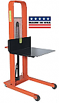 Large Platform Hydraulic Stacker - Curved Top