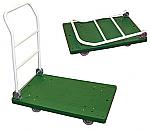 Plastic Platform Trucks with Fold Down Handle