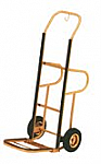 Brass Hotel Luggage Hand Truck with Backrest