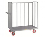 3 Sided Steel Bulk cart Mover with Tubular Sides
