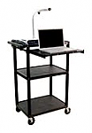 Computer Work Station with Front Pull Out Shelf thumb