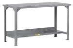 Welded Steel Workbench With Bottom Shelf thumb