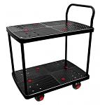 "2 Shelf Silent Platform Cart 700lb capacity 19"" Wide x 28"" Long thumb"