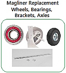 Replacement Wheels, Axle, Brackets for Magliner Hand Truck