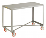 4 Swivel Mobile Table With Brakes thumb