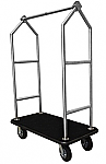 Monarch Brushed Stainless Hotel Luggage Cart thumb