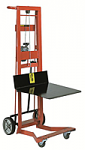 Four Wheel Hand Winch Platform Lift Truck thumb