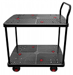 "2 Shelf Silent Platform Cart 660lb capacity 23"" Wide x 35"" Long thumb"