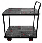 "2 Shelf Silent Platform Cart 1000lb capacity 23"" Wide x 35"" Long thumb"