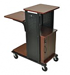 Boardroom Presentation Cart with Cabinet(Cherry)