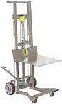 Four Wheel Stainless Steel Foot Pump Platform Lift Truck thumb