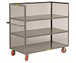 3 Shelf Steel Cart-Enclosed thumb