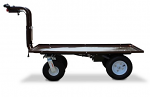 "Outdoor Electric Platform Cart with Big Rugged Wheels - 30""x48"" thumb"