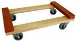 Hardwood Dolly with Rubber Ends